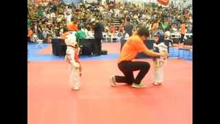 JK INVITATIONAL 2012 WORLD TAEKWONDO CHAMPIONSHIPS--5 YEAR OLD SPARRING