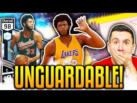 NBA 2K17 DIAMOND 98 OVR KAREEM ABDUL-JABBAR IS UNGUARDABLE! MyTEAM Online Gameplay!
