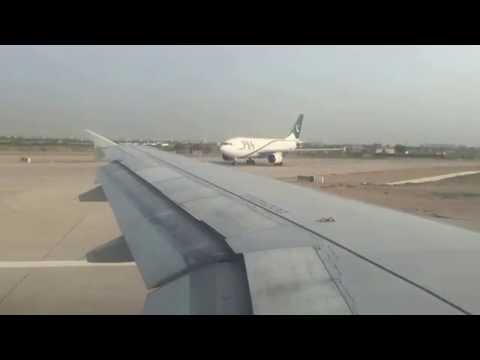 Pakistan International Airlines Takeoff from Karachi Jinnah International Airport in 4K