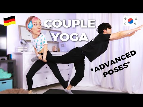 COUPLE'S YOGA Challenge *DON'T TRY THIS AT HOME!!*