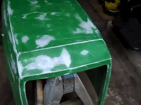 John Deere 160 Hood Restoration Part 1
