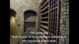 Custom Wine Cellar Racks By Joseph & Curtis - Made Of American Walnut