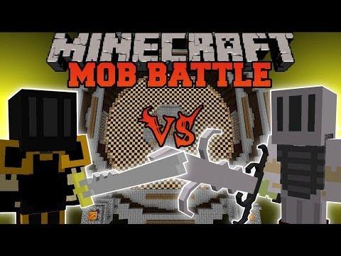 Elite Black Knight Vs. White Knight Hero - Minecraft Mob Battles - Scapecraft Mod Battle
