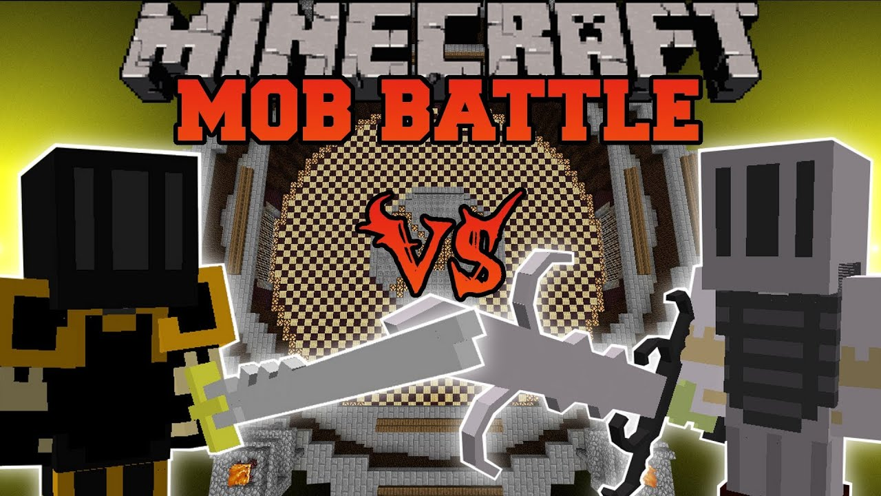 Elite Black Knight Vs White Knight Hero Minecraft Mob