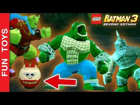 Os 10 personagens que eu acho Diferentes, Divertidos e Curiosos do jogo Lego BATMAN 3 Gameplay 👊: Neste vídeo mostramos 10 personagens que eu considero divertidos, diferentes, curiosos e legais do jogo Lego BATMAN 3.  Assista até o final,  fazemos uma competição entre 2 personagens! Quem será o vencedor?  Não se esqueça de dar um JOINHA no vídeo, MOSTRAR este vídeo para seus amigos e parentes e de se INSCREVER no canal clicando neste link: https://www.youtube.com/funtoysbrinquedosvideos/videos?sub_confirmation=1  Compre Brinquedos de Lego BATMAN e seus amigos neste link: http://amzn.to/2gpWShe  Comente abaixo qual personagem deste vídeo você achou mais legal!   No vídeo mostramos: Apocalypse, Crocodilo, Homem Borracha, Etrigan o Demônio, Monstro do Pântano, Caçador de Marte, Senhor Mxyzptlk, Kid Flash, Gavião Negro, Shazam! 😃  SIGA-NOS / FOLLOW US: 😀 😅 😉 😍 😗 😜 😎 ✦Inscreva-se: https://www.youtube.com/channel/UCVOq9DX3BL9bBU9FrG5MpMA?sub_confirmation=1 ✦Twitter: https://twitter.com/FunToysBrinque ✦Google+: https://goo.gl/QVmgp0 ✦Instagram: https://instagram.com/fun_toys_brinquedos/ ✦Blog: http://festadeideias.com.br/Fun_Toys_Brinquedos/ ✦Facebook: https://www.facebook.com/Fun.Toys.Brinquedos.YT   Assista outros vídeos IRADOS: - Os 10 personagens que eu acho mais Diferentes e Divertidos do Jogo Lego Marvel's Vingadores Gameplay: https://www.youtube.com/watch?v=4DElElgNGB4&list=PL2edokDcUWHIZRjdi8d-Gj3NaBM8UWN8r   - Todos os Uniformes do Batman e Robin do jogo LEGO Batman 3: https://www.youtube.com/watch?v=0QA8jq4ESZg&list=PL2edokDcUWHLRrau5wZfxiP5gZjU7EHhA  - Todos os Uniformes do Homem Aranha do jogo LEGO Marvel's Avengers: https://www.youtube.com/watch?v=W-O_EC_kI1o&list=PL2edokDcUWHLRrau5wZfxiP5gZjU7EHhA  - TODAS as armaduras do Homem de Ferro: https://www.youtube.com/watch?v=lTRzmSsi8w0&list=PL2edokDcUWHLRrau5wZfxiP5gZjU7EHhA  - TODAS as armaduras do Coringa e Lex Luthot: https://www.youtube.com/watch?v=DtWwbihjWrk&list=PL2edokDcUWHLRrau5wZfxiP5gZjU7EHhA  - Pokebol