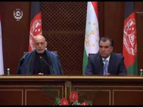 President Karzai and President Emomalii Rahmon Joint Press Briefing - October 21, 2013