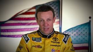 Thank you, troops: NASCAR drivers salute our military