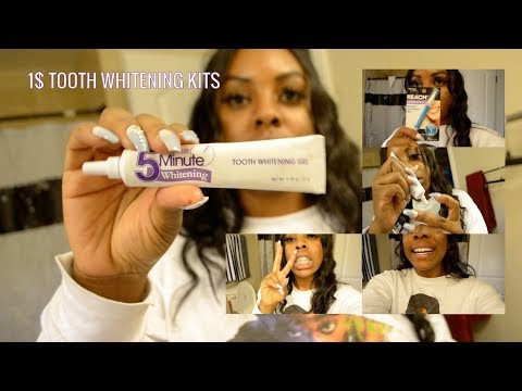 DOLLAR TREE 5 MINUTE TEETH WHITENING KITS | TWO DIFFERENT METHODS: GEL PEN AND