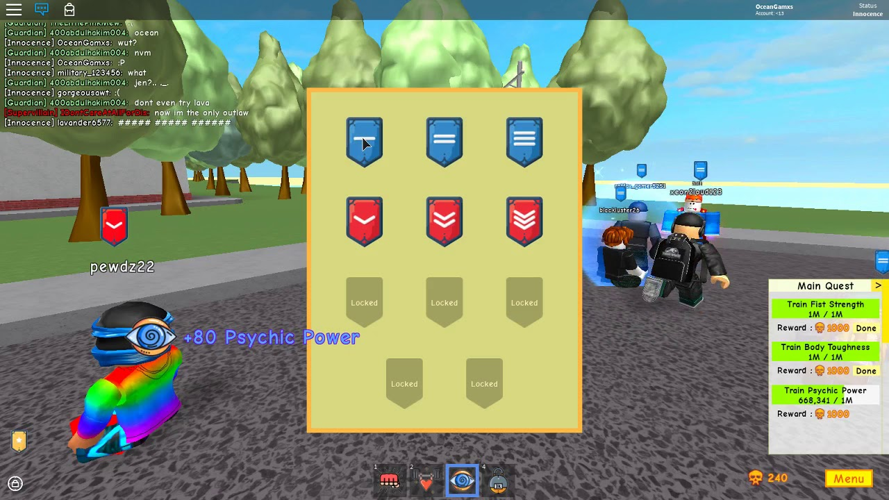 Super Power Training Simulator | How to change your rank look