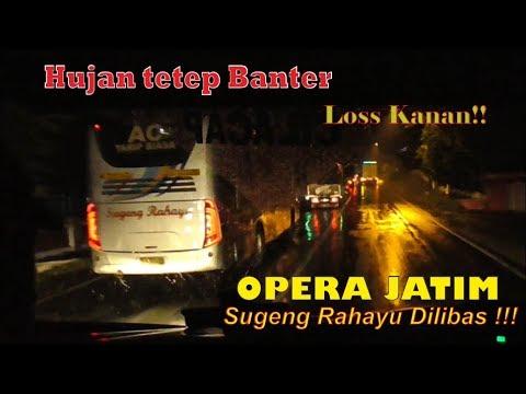 [HD] HUJAN DERAS TETAP NGEBLONG !! Trip Bus Jawatimuran Surabaya-Yogyakarta PART 2