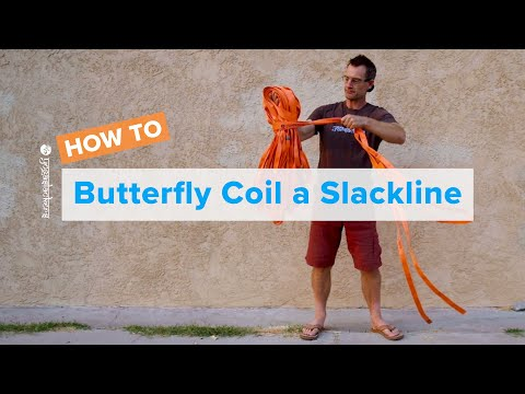 How to Butterfly Coil a Slackline • YogaSlackers