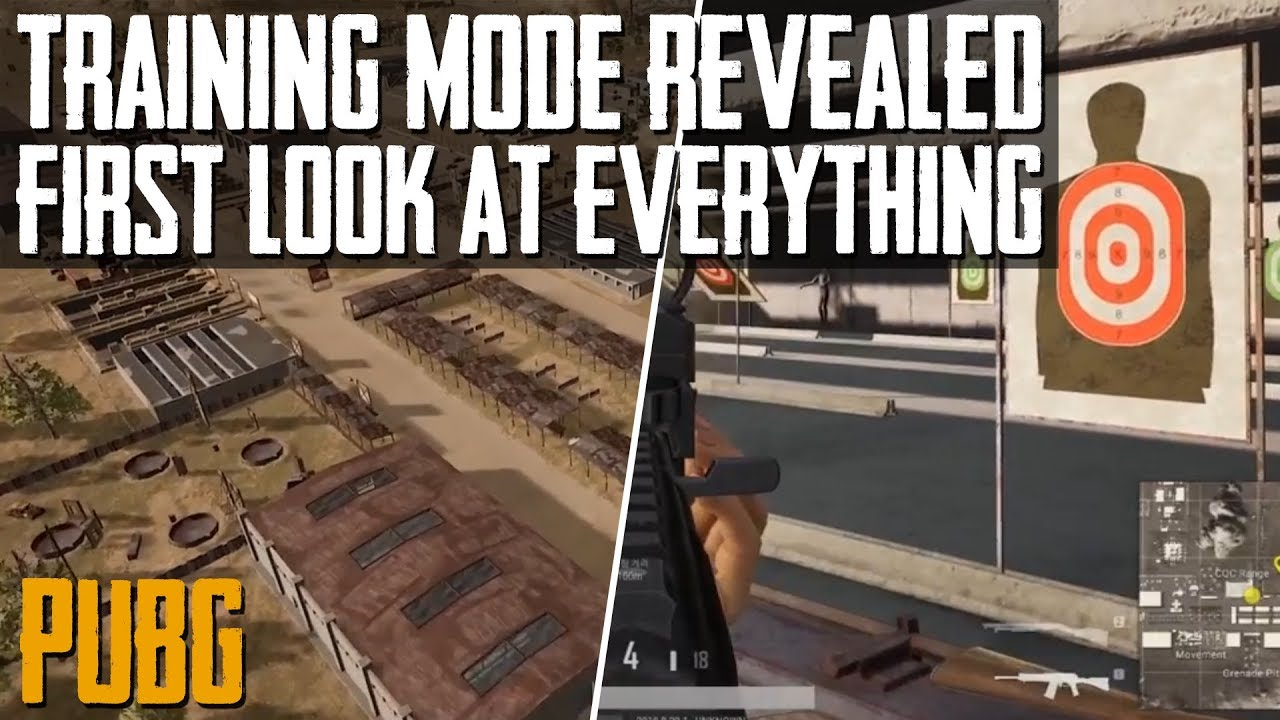 PUBG News | FIRST LOOK AT TRAINING MODE | NEW VIDEO FROM PUBG