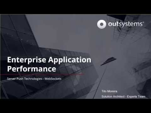 Enterprise application performance server push technologies with WebSockets