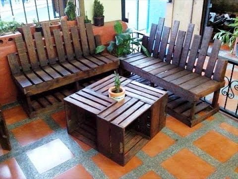 ideas para realizar una sala econ mica con materiales On muebles de jardin reciclados