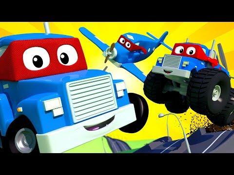 Carl el Super Cami贸n en Auto City - Dibujos animados para ni帽os - Live 馃敶