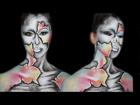 All An Illusion Face Paint Look Andrea Kyriakou
