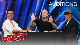 Simon Cowell Controls Howie Mandel's MIND?! Ryan Tricks Shocks Us All! - America's Got Talent 2020