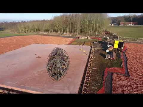 Dronebeelden herdenkingsproject in De Palingbeek
