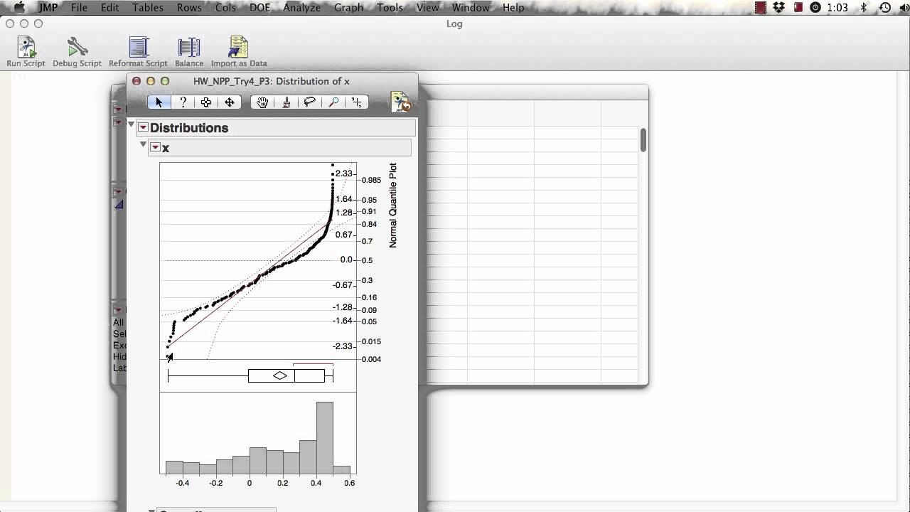 Computing a Normal Probability Plot Using JMP