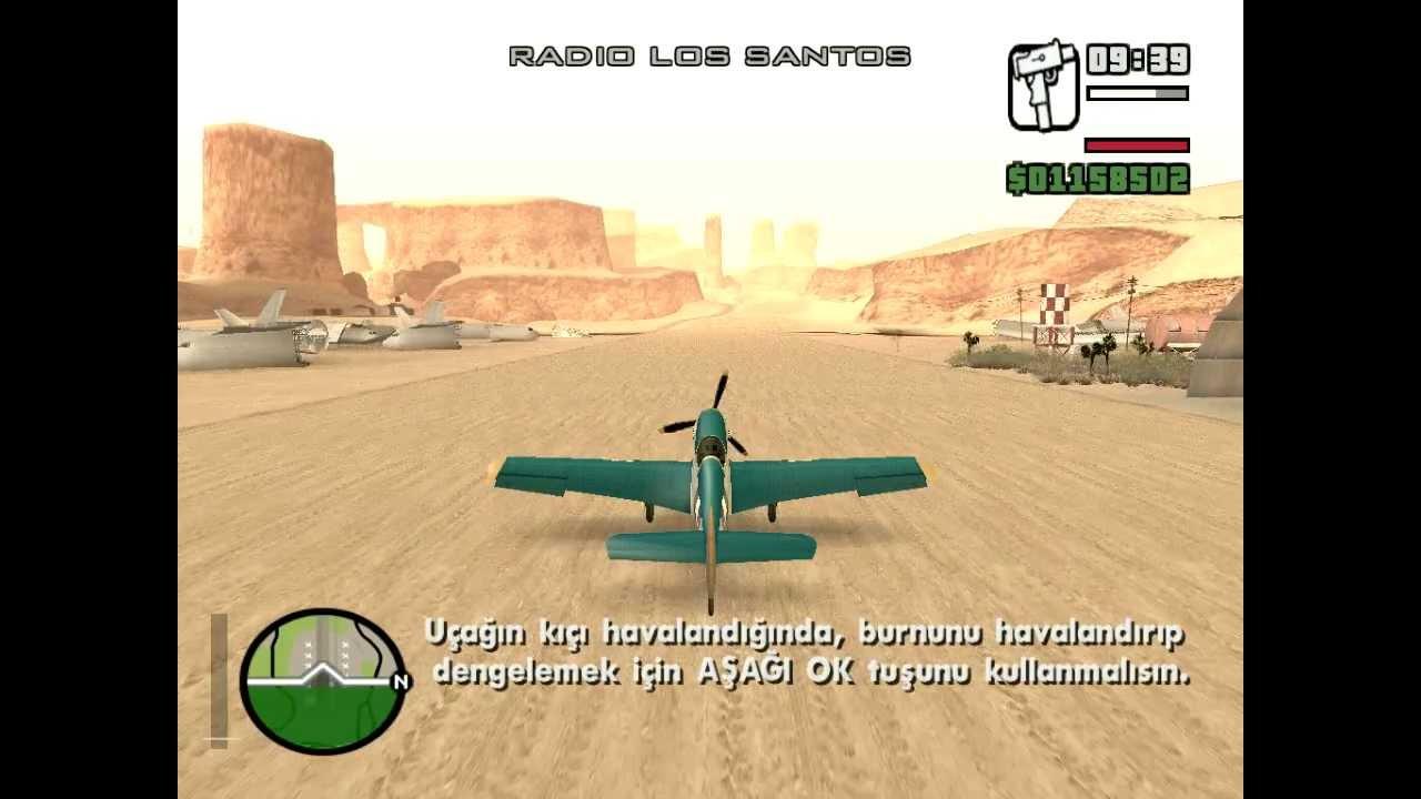GTA San Andreas Görev Pilot Kursu #1 - Kalkıs (Pilot School #1 - Takeoff)
