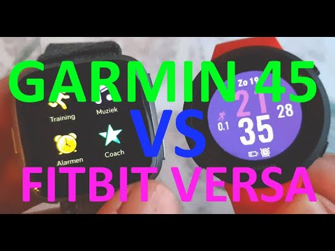 GARMIN 45 vs FITBIT Versa [WHICH TO BUY?] COMPARISON TEST REVIEW!