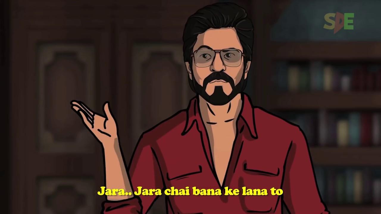 Raees Trailer Spoof Shah Rukh Khan Hd Videos Raees Cartoon Video