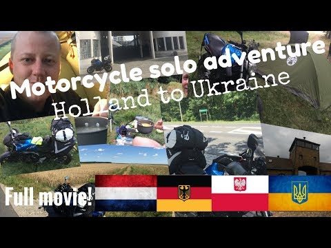 Amazing Motorcycle Wild Camping Europe solo road trip from Holland to Kiev, Ukraine