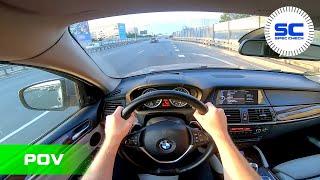 BMW X6 XDrive 40d 306ps 225Kw E71 POV Test Drive on ROAD / Amazing Stock Diesel Sound