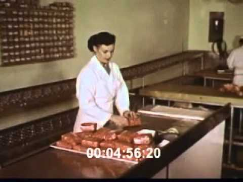 Stock Footage: Supermarket 1950s