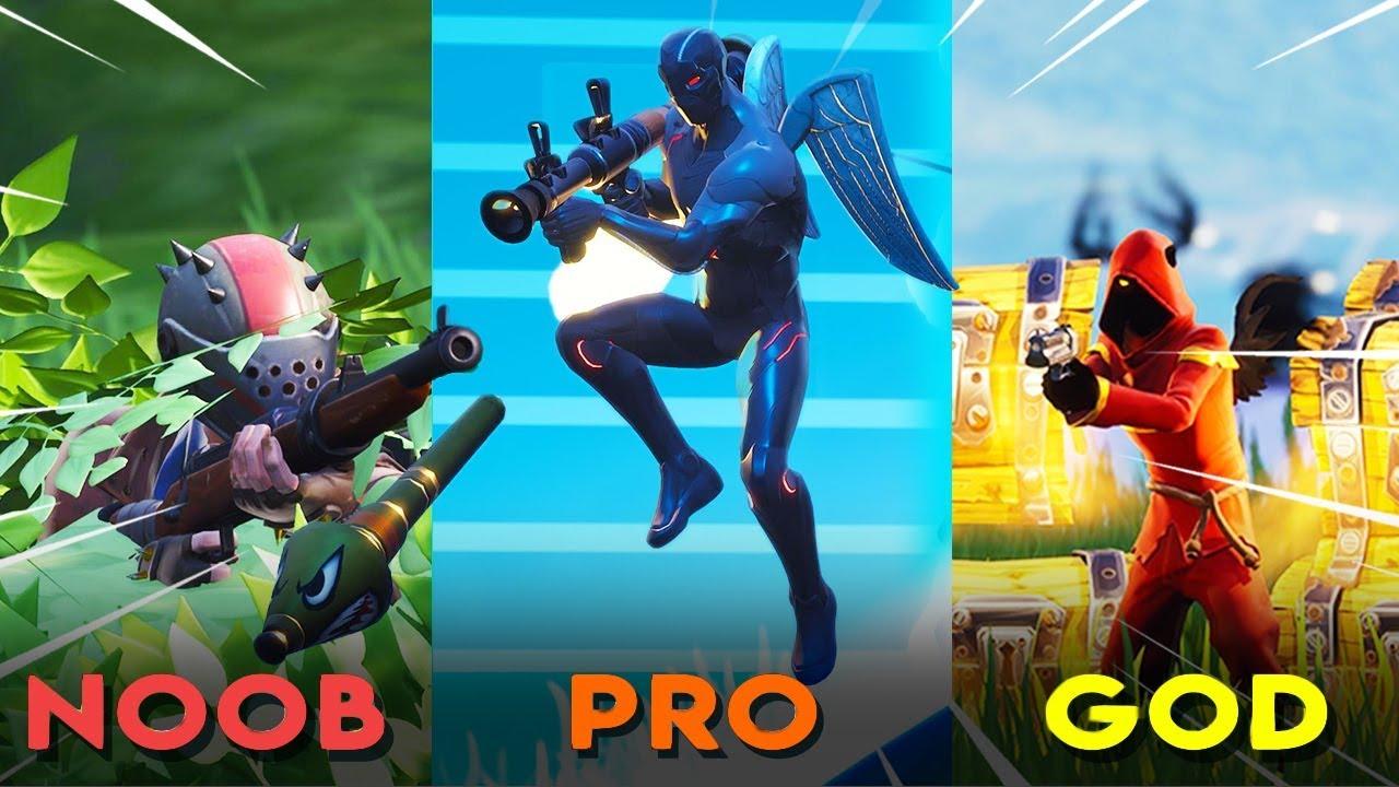 Fortnite NOOB vs PRO vs GOD | Gold Guns Only Challenge - YouTube