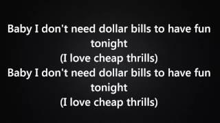 Sia - Cheap Thrills Ft. Sean Paul Lyrics VIDEO 2016
