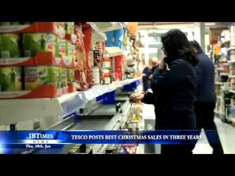 Tesco posts best Christmas sales in three years