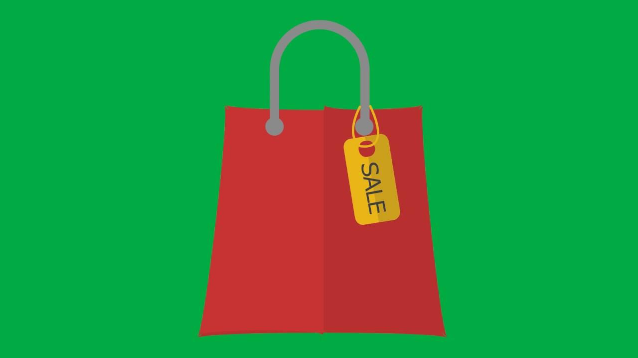 Animated Shopping Bag Fashion Green Screen - YouTube