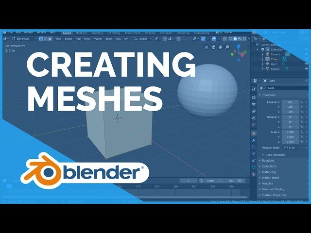 Creating Meshes - Blender 2.80 Fundamentals