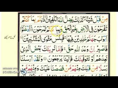 THE QURAN (Juzz 24) Para 24 From Nisf to Salasa (3/4) | upto Sura Haa Meem  Sajda (1-8) |(MMQ)