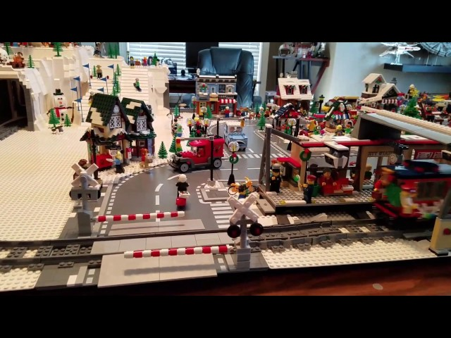 Lego Christmas Village and Holiday Train