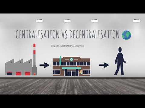 Centralised vs decentralised logistics