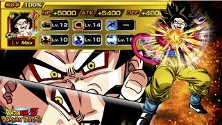 100% potential ssj4 goku! showcase! dragonball z dokkan battle! jp!