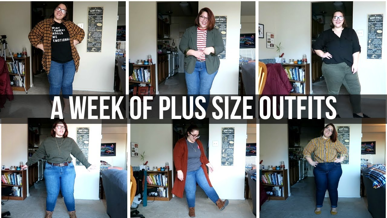 Plus-Size Outfits for a Week | Winter Work Wear 2