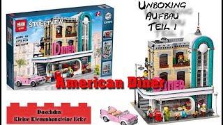 American Diner - LEPIN - 15037 - Unboxing, Aufbau, Teil 1 - Deutsch / German
