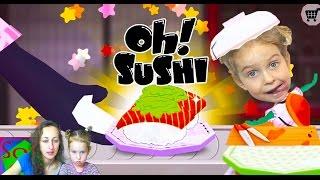 Вредные детки Мастер суши мульт игра Sushi Master Fun Cooking Games for Children