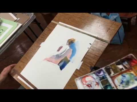 Full Figure Watercolor Painting Tutorial Demo by Steve Carpenter Step By Step Watercolo Instruction