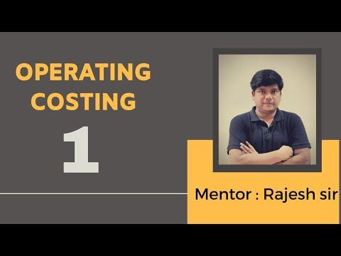 Operation Costing ( Format ) Basics