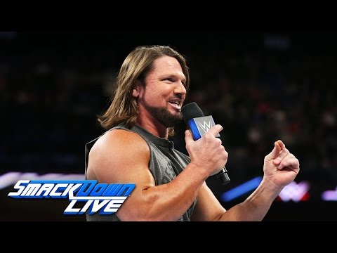 Thumbnail: AJ Styles accepts Shane McMahon's challenge at WrestleMania: SmackDown LIVE, March 21, 2017