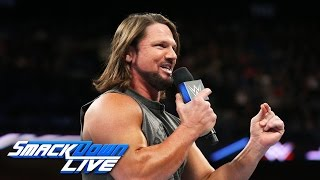 Repeat youtube video AJ Styles accepts Shane McMahon's challenge at WrestleMania: SmackDown LIVE, March 21, 2017