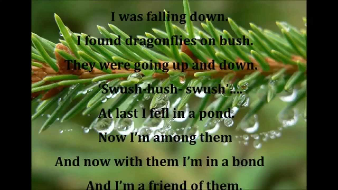 Nature In Dewdrop S Words English Poem For Recitation