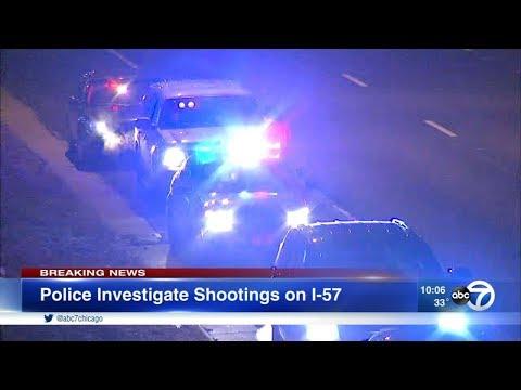 2 injured in separate shootings on I-57