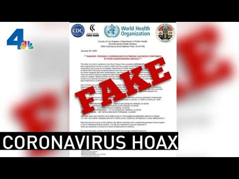 Coronavirus Hoax Scares Carson Residents | NBCLA