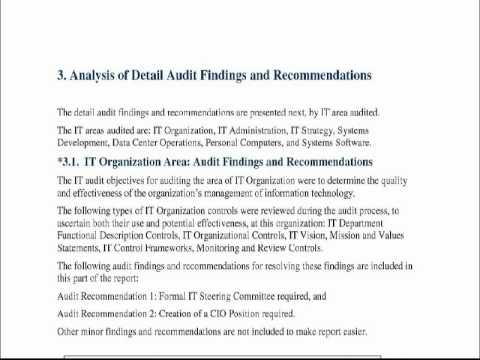 Audit Report Model and Sample - YouTube