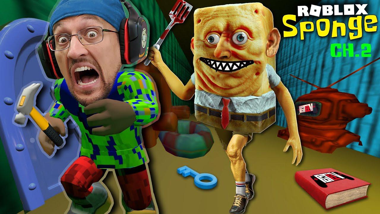 Escape Spongebob S House Roblox Sponge Chapter 2 Fgteev 75